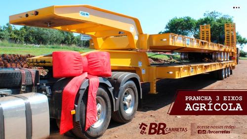carreta prancha 3 eixos agricola - br carretas 2020