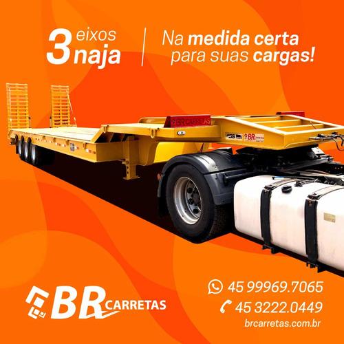 carreta prancha  3 eixos nova 2020  br carretas