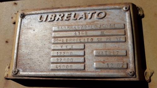 carreta prancha librelato 3 eixos (sem pneus) l ano 2007