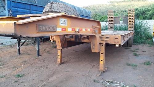 carreta prancha randon reta ano 2011/ 2012 com rampa