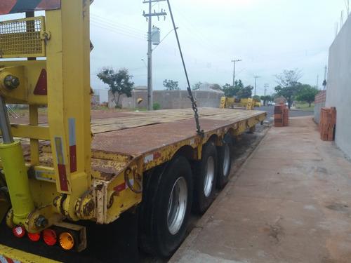 carreta prancha  réta 3 eixos,longa 12,70 ultil ano 2012