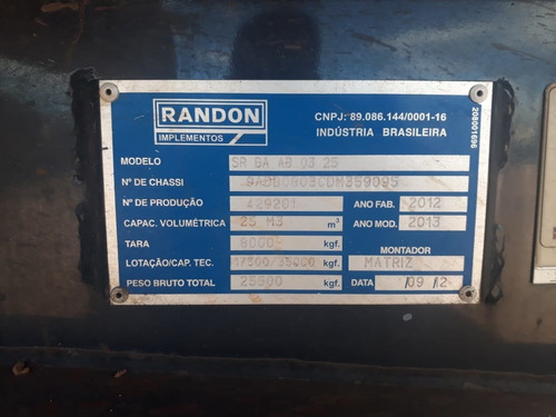 carreta randon 2012/13  25 sem pneus