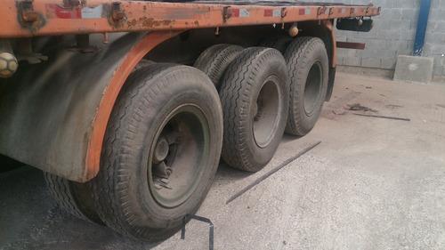 carreta randon c/ 12 pinos p/ cont., tampas e 12 pneus bons!