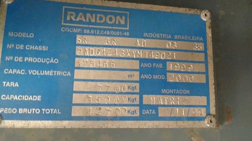 carreta randon graneleira 3 eixos sem pneus1999