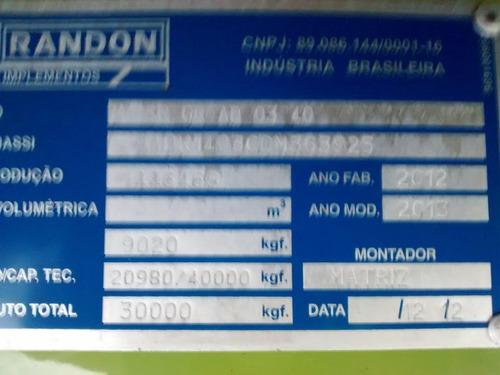 carreta randon vanderleia 14mts 2013 unico dono nova