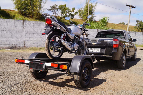 carreta reboque 1 moto slim - bravo chassi 01