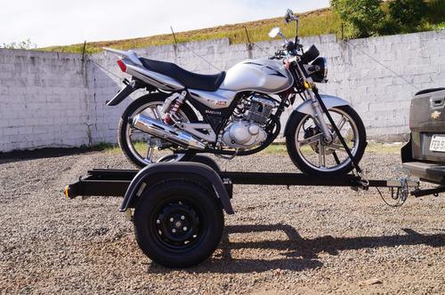 carreta reboque 1 moto slim - bravo chassi 03