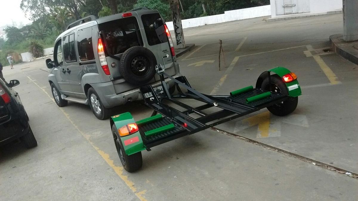 Carreta Reboque Asa Delta P/carro Consulta A Rampa P/motos