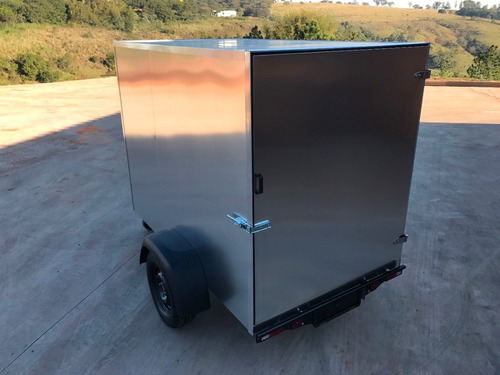 carreta reboque baú furgão fechada alumínio eurocar