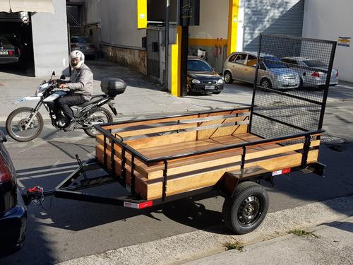 carreta  reboque carretinha para food bike fazendinha