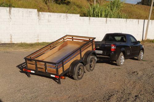 carreta reboque fazendinha 1200kg - bravo carretas chassi 01