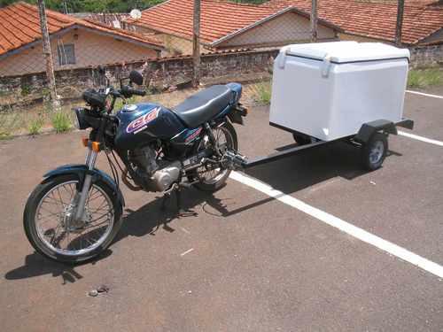carreta reboque para puxar com moto -  direto da fábrica