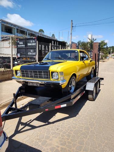 carreta reforçada para transporte de carros antigo opala