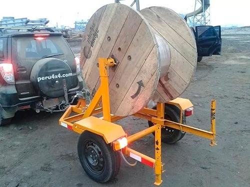 carreta remolque para transportar bobina de cable electrico