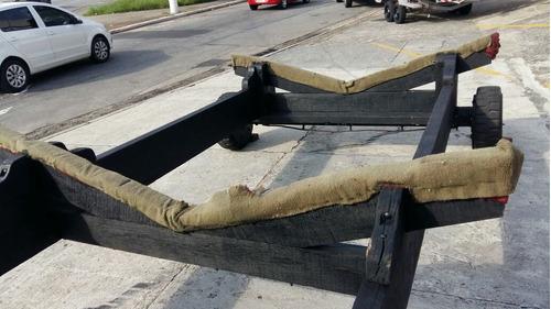 carreta rodoencalhe para lanchas até 30 pés poddium nautica
