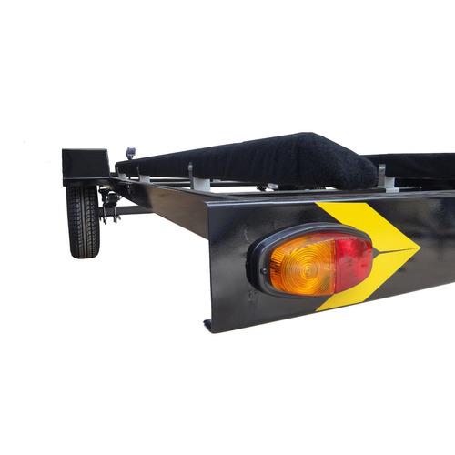 carreta rodoviária p/ barco 5/6m completa odne super light