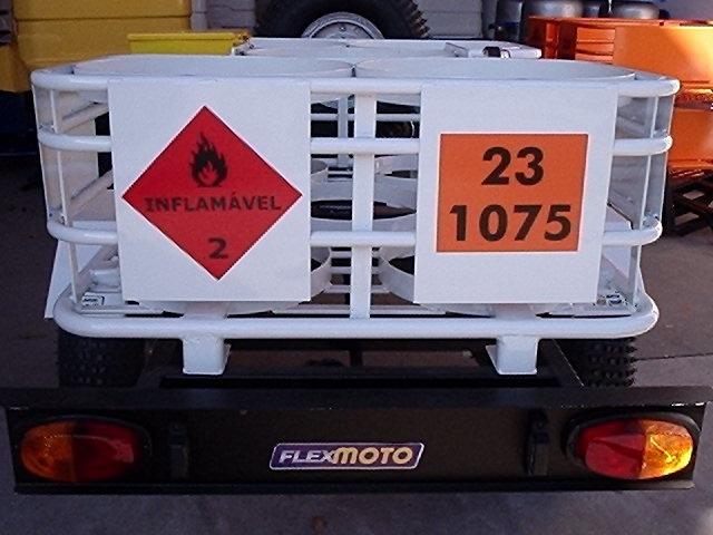 carreta s/ reboque gás flexmoto 6g 2017, carrocinha