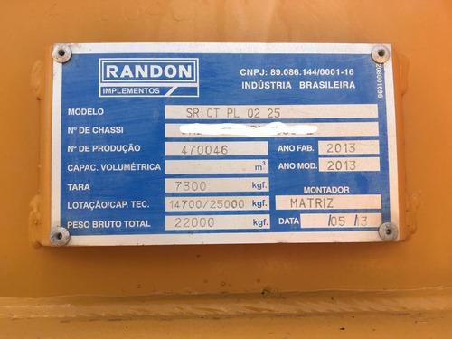 carreta / sem-reb / prancha - randon / amarela - ipva pago