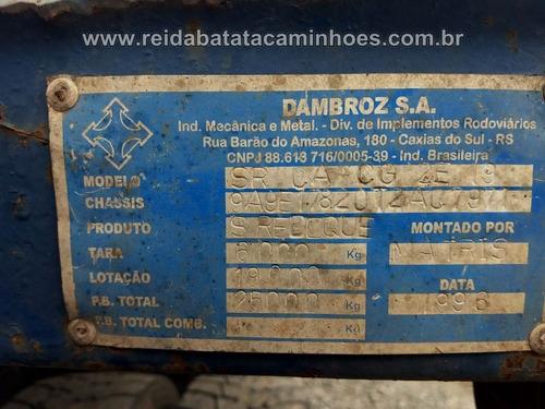 carreta semi reboque dambroz 2 eixos prancha plataforma !