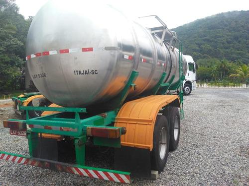 carreta semi reboque tanque inox - randon 23 mil litros