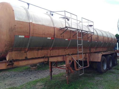 carreta tanque de inox 3 eixos 26.000 l s/ pneus vital 1988