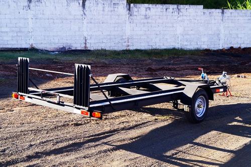 carreta transporte veicular 1 eixo bravo chassi 03