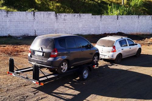 carreta transporte veicular 1 eixo bravo chassi 05
