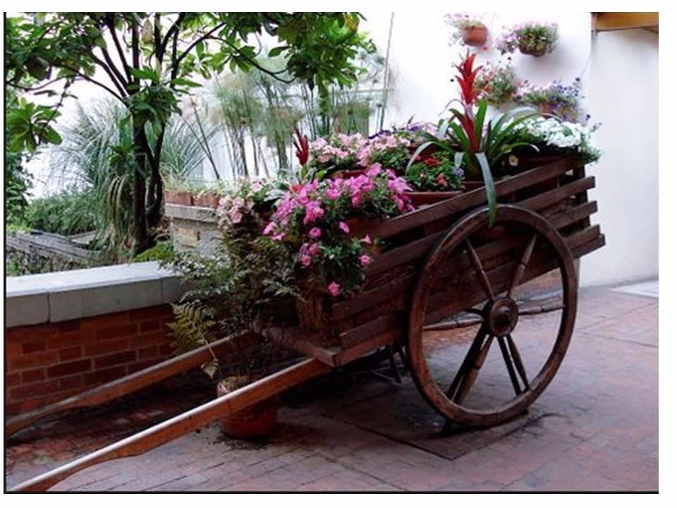 Carretas de madera de jardin s 300 00 en mercado libre - Madera para jardin ...