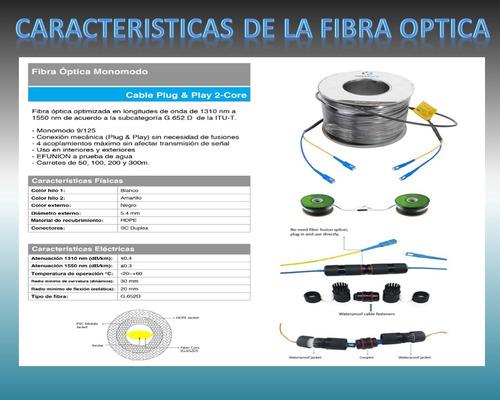 carrete de fibra óptica monomodo 100m ef100m