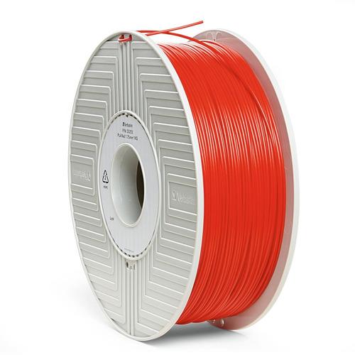 carrete de filamento pla 3d de 1,75 mm 1 kg  rojo - 55253