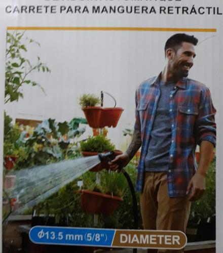 carrete manguera jardin