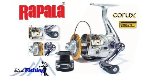 carrete pesca rapala corux 3000 (8 rodamiento) rio y lago