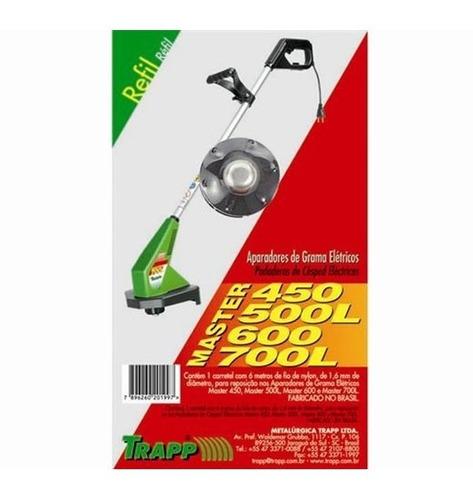 carretel fio de nylon completo trappmaster 400/500l/600/700l