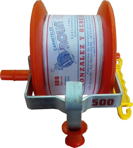carretel plastico c/500 m. hilo, p/ boyero eléctrico