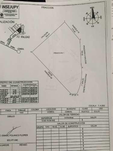 carretera merida - chicxulub puerto (cerca de conkal) terreno de 4.47 ha