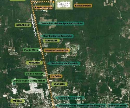 carretera merida progreso terrenos en privada alena