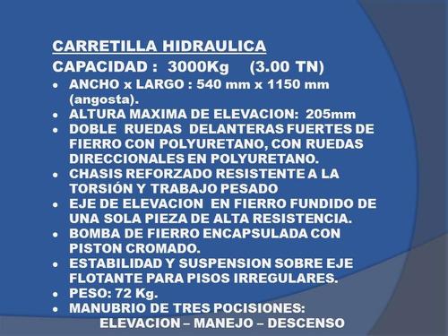 carretilla hidraulica stoka