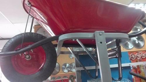 carretilla marca jem rueda neumatica color roja nuevas