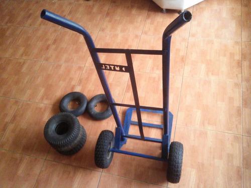 carretilla/carrucha super carga rueda maciza 250kg