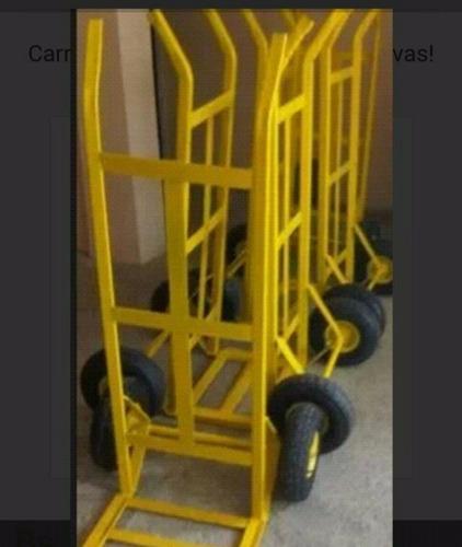 carretilla/carrucha super carga rueda maciza 250kg. nueva!!