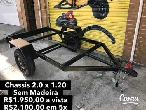 carretinha 2.00 x 1.20 - chassis para montar