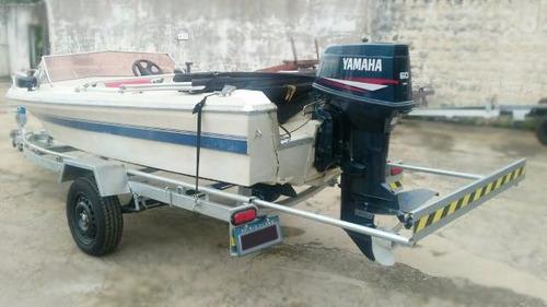 carretinha barco lancha bote 15 / 16 pés 500kg c/rodas pneus