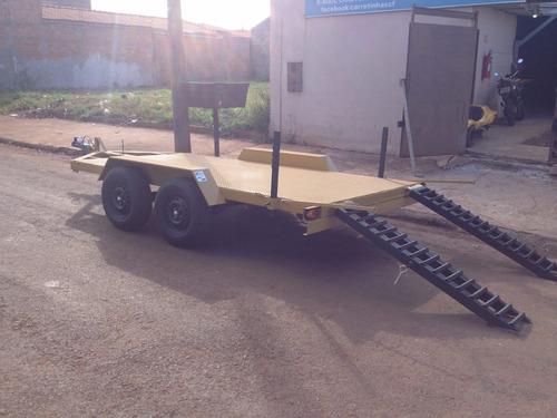 carretinha carreta transporte mini carregadeira escavadeira