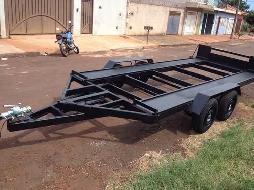 carretinha carro transporte de veiculos maquinas