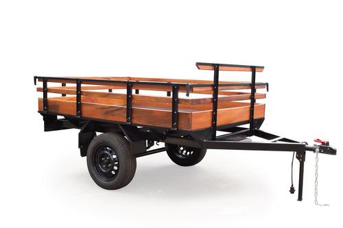 carretinha fazendinha madeira, reboque, carreta - metalvis