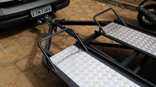 carretinha para quadriciclo top silver basculante