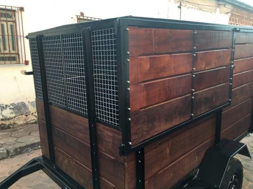 carretinha pet em madeira de lei 2,50cx1,30lx1,20a maravilha