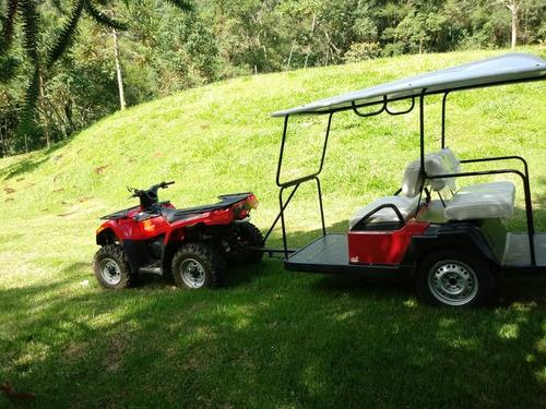 carretinha plus para quadriciclos utv/atv/carrinho de golfe