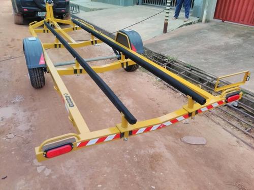 carretinha (reboque) 1 eixo, cap 800kg p/ embarcações