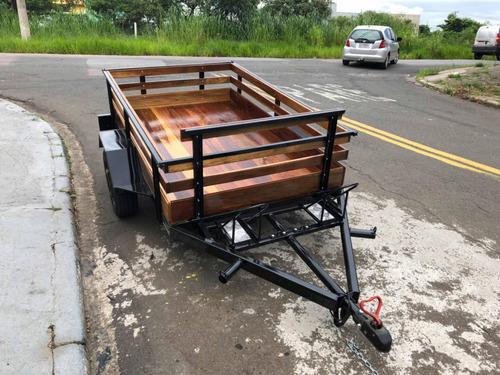 carretinha reboque para até 3 motos carreta nova em campinas